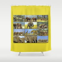 wildlife Shower Curtains featuring Wildlife by Karl-Heinz Lüpke