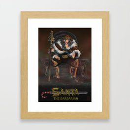 Santa the Barbarian Framed Art Print