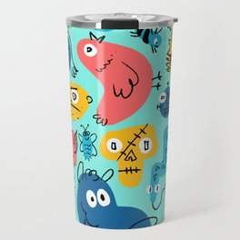 Colorful Character Shapes Travel Mug