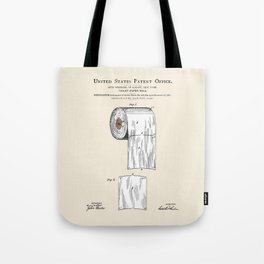 Toilet Paper Roll Patent Tote Bag