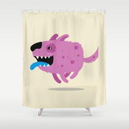 Purple dog Shower Curtain