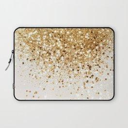 Sparkling Gold Glitter Glam #2 #shiny #decor #art #society6 Laptop Sleeve
