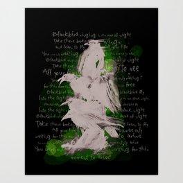 BlackBird Fly  Art Print
