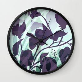 Sassy Sedge - cool colors Wall Clock