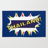 thailand Area & Throw Rugs featuring Thailand by mailboxdisco