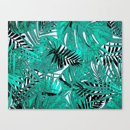 Tropical leaves background texture Canvas Print