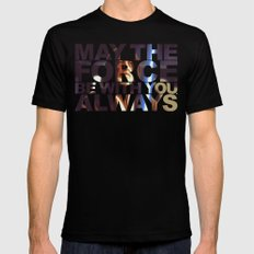 May The Force Be With You, Always Mens Fitted Tee MEDIUM Black