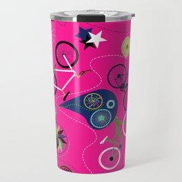Cycledelic Pink Travel Mug