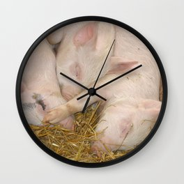 Piggy Feet in Face Wall Clock