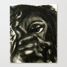 charcoal- test 1 Canvas Print