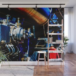 Valves And Tubes Of A Vintage Steam Engine Locomotive Wall Mural