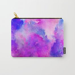 ink style of purple watercolour texture Carry-All Pouch