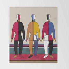 Suprematism Men Throw Blanket