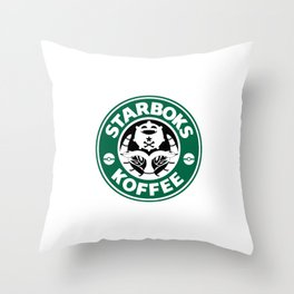 Starboks Koffee Throw Pillow