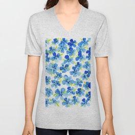 Floating Watercolor Petals Unisex V-Neck