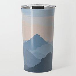 Pastel Sunset over Blue Mountains Travel Mug