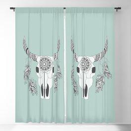 Boho motifs Blackout Curtain