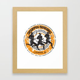 Orsippus Running Club Framed Art Print