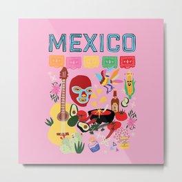 Mexico Print Metal Print