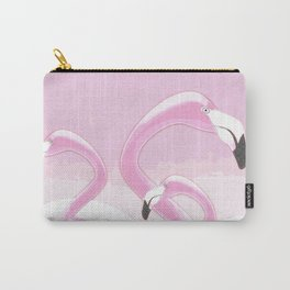 Soft Pink Flamingos Design Carry-All Pouch