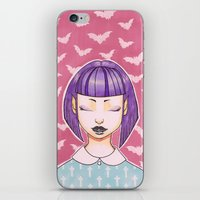 goth iPhone & iPod Skins featuring Pastel Goth by IMEON2