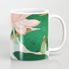 Flowering Water Lily Ohara Koson Coffee Mug