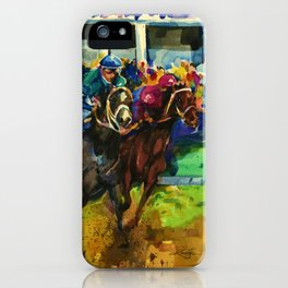 The Race No. 2 by Kathy Morton Stanion iPhone Case