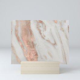 Marble Rose Gold Shimmery Marble Mini Art Print
