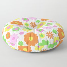 Vintage Daisy Crazy Floral Floor Pillow