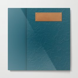 """A series of """"Covers for notebooks"""" . Blue texture . Metal Print"""