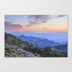 Alayos mountains at sunset Canvas Print