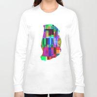 glitch Long Sleeve T-shirts featuring GLITCH by C O R N E L L