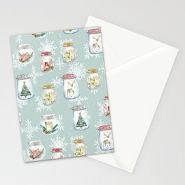 Christmas Jars Mint Stationery Cards