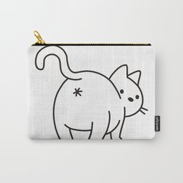 Cat saying goodbye! Carry-All Pouch