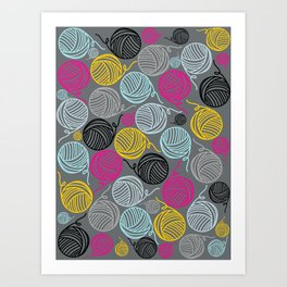Yarn Yarn Yarn Yarn Yarn Art Print