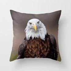 Bald Eagle Face Throw Pillow