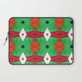 Colorful Pattern Green Red Orange Blue Laptop Sleeve