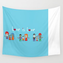 Love is Love Blue - We Are All Equal Wall Tapestry