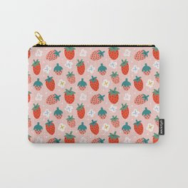 Strawberries Pattern Carry-All Pouch