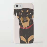 rottweiler iPhone & iPod Cases featuring Rottweiler by Reimena Ashel Yee