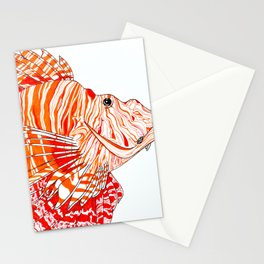 Linear Lionfish Stationery Cards