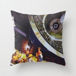 Planetary Precipice Throw Pillow