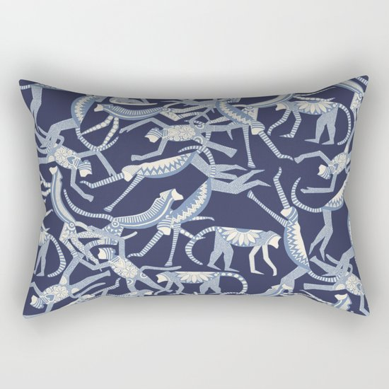 monkey blue Rectangular Pillow