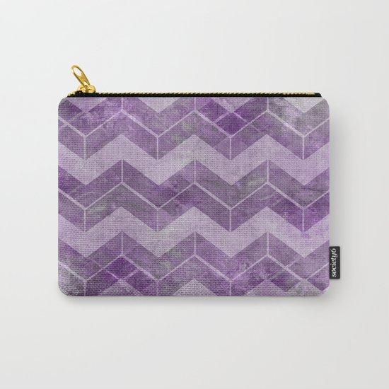 Chevron pattern, watercolors purple Carry-All Pouch