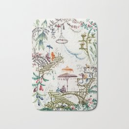 Enchanted Forest Chinoiserie Bath Mat