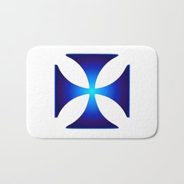 Glowing symbol Cross Pattee (Christianity) Bath Mat