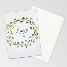 """Merry"" Stationery Cards"