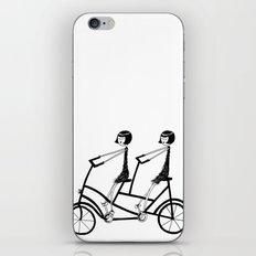 tandem bicycle iPhone & iPod Skin