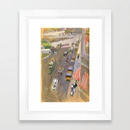 Fifth Avenue, New York by Joaquin Sorolla Framed Art Print