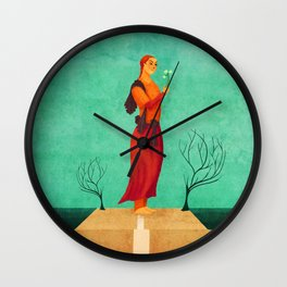 MISS SPRING Wall Clock
